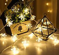economico -3m 20leds fiocco di neve led luci natalizie con fili per decorazioni natalizie luci natalizie ghirlanda natalizia capodanno regalo per feste di matrimonio alimentato a batteria