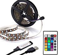 abordables -Usb led bande 1m 2m 3m 4m mini 24key flexible lumière lampe bureau décor écran tv fond éclairage
