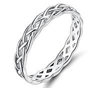 abordables -Bague en argent sterling 925 4mm éternité noeud celtique bande de mariage pour femme taille 9