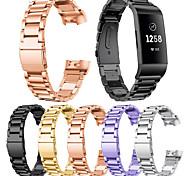 economico -Cinturino intelligente per Fitbit 1 pcs Cinturino sportivo Chiusura classica Chiusura moderna Acciaio inossidabile Sostituzione Custodia con cinturino a strappo per Carica Fitbit3 Carica Fitbit 4