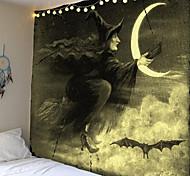 abordables -Tapisserie impression halloween sorcière lune tapis décoration de la maison nuit lune hippie tapisserie tapisserie murale décoration