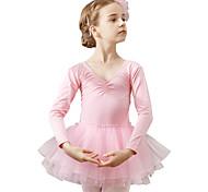 economico -Danza classica Calzamaglia / Pigiama intero Tinta unita Da ragazza Addestramento Prestazioni Manica lunga Naturale Cotone