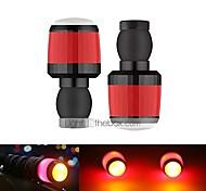abordables -clignotants feux à led pour guidon de vélo 1 paire mini embouts de guidon de lumière latérale stroboscopique bouchons de guidon clignotants (noir)