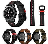 economico -Cinturino in pelle da 22 mm per samsung galaxy watch 3 45 mm / orologio galaxy 46 mm / gear s3 classic / gear s3 frontier cinturino sostituibile cinturino da polso cinturino da polso