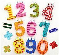 abordables -Math coloré drôle Symbole bois Aimants jouet éducatif (Numéro 0-9 et signe)