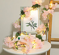 economico -2m 20leds ortensia vite led luci stringa a batteria natale casa decorazione di nozze san valentino fata luce