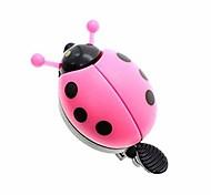 abordables -belle cloche de vélo de coccinelle pour enfants filles, cloche de vélo en plastique en acier vélo de plein air amusant sport son net pour enfants filles garçons vélo (rouge, bleu, jaune, rose)