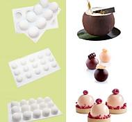 economico -stampo per torta in silicone a forma di palla rotonda per mousse 1pz s m l