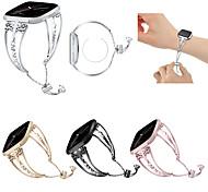abordables -1 pièces Bracelet de Montre  pour Fitbit Conception de bijoux Acier Inoxydable Sangle de Poignet pour Fitbit Versa Fitbit Versa Lite Fitbit Versa 2