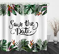 economico -tende da doccia per tende da doccia con stampa digitale a foglia verde inglese& ganci moderno poliestere nuovo design