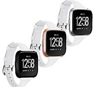 economico -Cinturino intelligente per Fitbit 1 pcs Cinturino di pelle Di similpelle trapuntata Similpelle Sostituzione Custodia con cinturino a strappo per Fitbit Versa