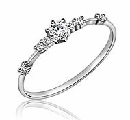 economico -7 minuscoli pezzi di diamante di squisiti anelli impilabili per le donne piccole donne in stile fresco gioielli con anello di diamanti simulati con zirconi | anelli d'argento d'oro per le donne