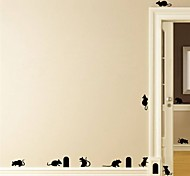 abordables -fête d'halloween décor d'halloween fantôme d'horreur halloween animaux souris stickers muraux stickers muraux décoratifs, pvc décoration de la maison sticker mural décoration murale / amovible 57 *