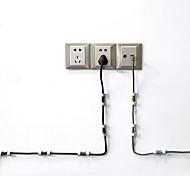 abordables -20 pcs / lot pince de ligne solide pinces de cordon USB titulaire organisateur de fixation de fil pince de serrage pince de câble fixe