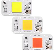 abordables -puce cob led lumière led 110v 220v 20w 30w 50w blanc chaud blanc chaud smart ic pas de soudure pas besoin de pilote smd perles de lumière pour projecteur projecteur lampe extérieure éclairage de