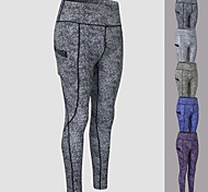 economico -YUERLIAN Per donna Vita alta Pantaloni Pantaloni a compressione Sportivo Livello Base Pantaloni con tasca per telefono Elastene Inverno Yoga Fitness Allenamento in palestra Esibizione Corsa Fasciante