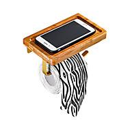 abordables -Porte-papier hygiénique multifonctionnel brossé, accessoires de salle de bain en aluminium / bambou