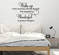abordables -lettre stickers muraux stickers muraux décoratifs, pvc décoration de la maison sticker mural décoration murale / amovible 45 * 30 cm