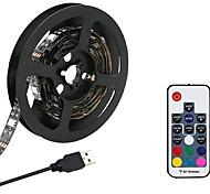 abordables -KWB 3M Bande lumineuse LED Ruban LED Ensemble de Luminaires 180 LED SMD5050 10mm Télécommande 17 touches 1 set RGB USB Connectible Dégradé de Couleur 5 V
