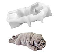 abordables -Mignon chien silicone moule mousse gâteau 3d shar pei moule crème glacée jello pudding souffle refroidissement outil bricolage fondant décoration