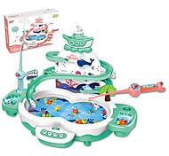 abordables -Jouets de pêche Jouet de pêche rotatif Manchot Poissons Magnétique Electrique 2 joueurs ABS Enfant Jouet Cadeau