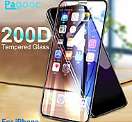 abordables -Verre trempé de protection incurvé 200D pour iPhone X XS 11 Pro XS Max XR Protecteur d'écran en verre sur iPhone 7 8 6 6s Plus Film de verre