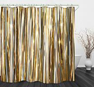 abordables -Ruban d'or impression numérique rideau de douche en tissu imperméable pour salle de bain décoration intérieure rideaux de baignoire couverts doublure comprend avec crochets