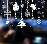 abordables -Noël neige ange stickers muraux stickers muraux décoratifs, pvc décoration de la maison sticker mural décoration de fenêtre en verre décoration / amovible