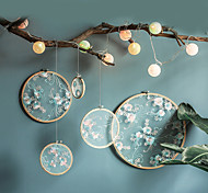 abordables -style chinois bambou broderie extensible broderie pendentifs accessoires de mariage décoration pendentif artisanat fait main salon pendentif 25 * 25 cm