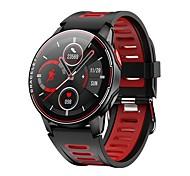 abordables -L6 Unisexe Smartwatch Montre Connectée Bluetooth Ecran Tactile Moniteur de Fréquence Cardiaque Mesure de la pression sanguine Calories brûlées Santé Chronomètre Podomètre Rappel d'Appel Moniteur de