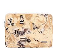 abordables -11,6 12 13,3 14,1 15,6 pouces universel en cuir PU ours imprimé résistant à l'eau étui pour ordinateur portable antichoc pour macbook / surface / xiaomi / hp / dell / samsung / sony