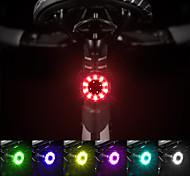 economico -LED Luci bici Waterproof Set luci ricaricabile per bici Luci di coda LED Bicicletta Ciclismo Impermeabile Uscita di ricarica USB Anti-polvere Rilascio rapido Litio-polimero 60 lm Li-Batteria integrata