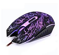 abordables -Litbest x5 souris de jeu optique usb filaire souris de bureau rétroéclairé multicolore 800/1200/1600/2400 dpi 4 niveaux de dpi réglables 6 touches PC