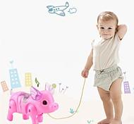 abordables -1 pc électronique animal de compagnie drôle robot cochon enfants jouets lumière LED musique lumineuse électrique marche cochon jouets éducatifs pour enfants enfant cadeau