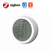 economico -tuya zigbee sensore di temperatura e umidità intelligente con schermo smart home