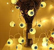abordables -halloween globe oculaire led guirlande lumineuse 4.9ft 1.5m 10leds veilleuse fonctionnement de la batterie fête de famille Halloween décoration de la maison