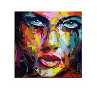 economico -100% dipinto a mano di grandi dimensioni dipinto a mano figura astratta pittura a olio su tela donna faccia immagini a parete per soggiorno camera da letto decorazioni per la casa arrotolato senza