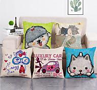 abordables -ensemble de 5 polyester jet oreiller salon housse de coussin voiture décoration de la maison canapé-lit taie d'oreiller décorative