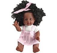abordables -10 pouce Poupées noires Poupée Reborn Bébés Fille Cadeau Classique Interaction parent-enfant ABS + PC F334 cadeaux noël enfant avec vêtements et accessoires pour les cadeaux d'anniversaire et de