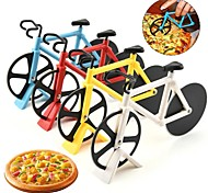 economico -coltello per pizza in acciaio inox tagliapizza a forma di bicicletta a due ruote 1pz
