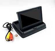 abordables -Moniteur de voiture pliable de 4,3 pouces caméras d'affichage TFT système de stationnement de caméra de recul pour moniteurs de rétroviseur de voiture