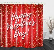 economico -natale inglese rosso stampa digitale tenda da doccia tende da doccia& ganci moderno poliestere nuovo design