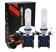 abordables -phares led de voiture avec puces led 25w 2600lm h4 ampoules de phare led 6000k