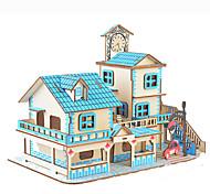 abordables -Puzzles 3D Puzzle Kit de construction de modèles Bâtiment Célèbre Maison A Faire Soi-Même Papier cartonné 90 pcs Animé Dessin Animé Romantique Enfant Unisexe Jouet Cadeau