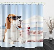 abordables -lunettes de soleil beagle crème glacée rideaux de douche& crochets modernes en polyester nouveau design