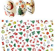 abordables -1 pcs Autocollants 3D pour ongles Autocollant de transfert d'eau Costumes de père noël / Arbre de Noël Manucure Manucure pédicure Universel / Nouveau design / Non-allergénique Artistique / Mode Noël