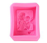economico -cucina creativa stampo in silicone madre che tiene a forma di bambino rettangolare sapone stampi per dolci al cioccolato strumenti per la decorazione di torte