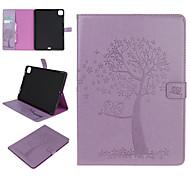 abordables -téléphone Coque Pour Apple Coque Intégrale iPad Mini 3/2/1 iPad Mini 4 iPad Mini 5 Porte Carte Avec Support Motif Arbre Animal faux cuir