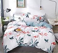 abordables -ensembles de housse de couette ensemble de literie 4 pièces botanique imprimé feuille avec taie d'oreiller drap de lit simple double queen king size housses de couette literie