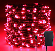 economico -minetom fairy lights strip 33ft 100 led waterproof firefly lights on copper wire with dc12v adapter included starry string lights for wedding indoor outdoor christmas patio garden decoration
